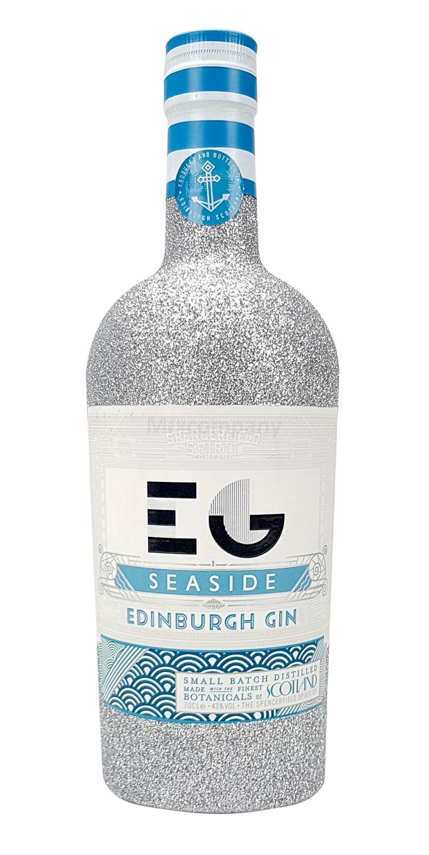 Edinburgh Seaside Gin 0,7l 700ml (43% Vol) Bling Bling Glitzerflasche in silber -[Enthält Sulfite]
