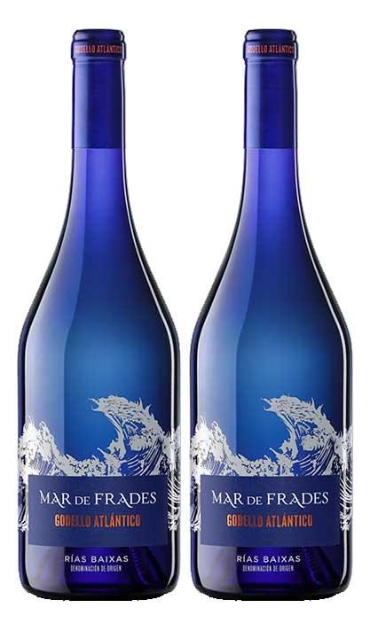 Mar de Frades 2er Set Godello Atlantico 0,75L (13% Vol) 2x Weißwein Rebsorte: 100% Godello- [Enthält Sulfite]