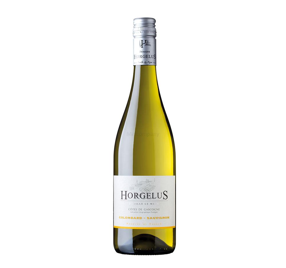 Horgelus Colombard Sauvignon Weißwein 0,75L (11,5% Vol) - Côtes de Gascogne Frankreich- [Enthält Sulfite]