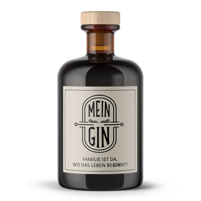 Mein Gin - Premium Dry Gin - Mein Gin 0,5L (41% Vol) - Familie ist da wo das Leben beGINnt- [Enthält Sulfite]