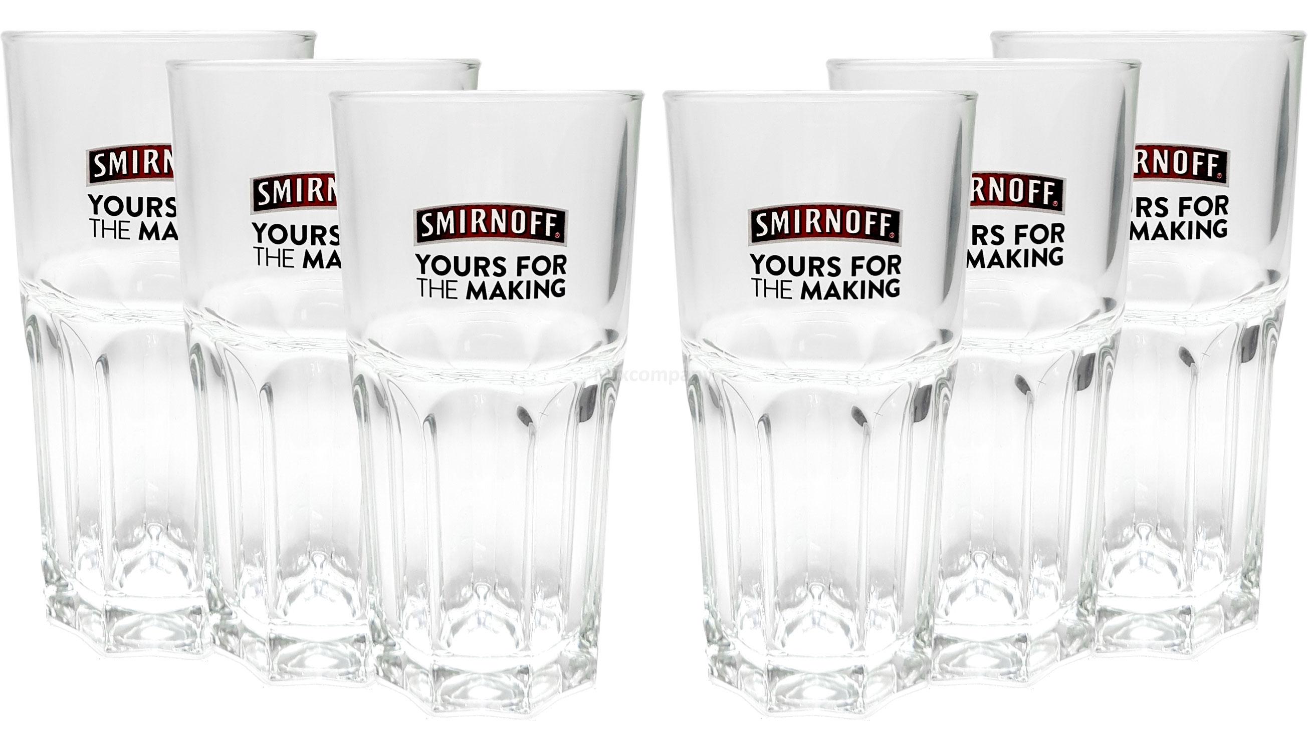 Smirnoff Longdrink Gläserset - 6x Gläser 2/4cl geeicht