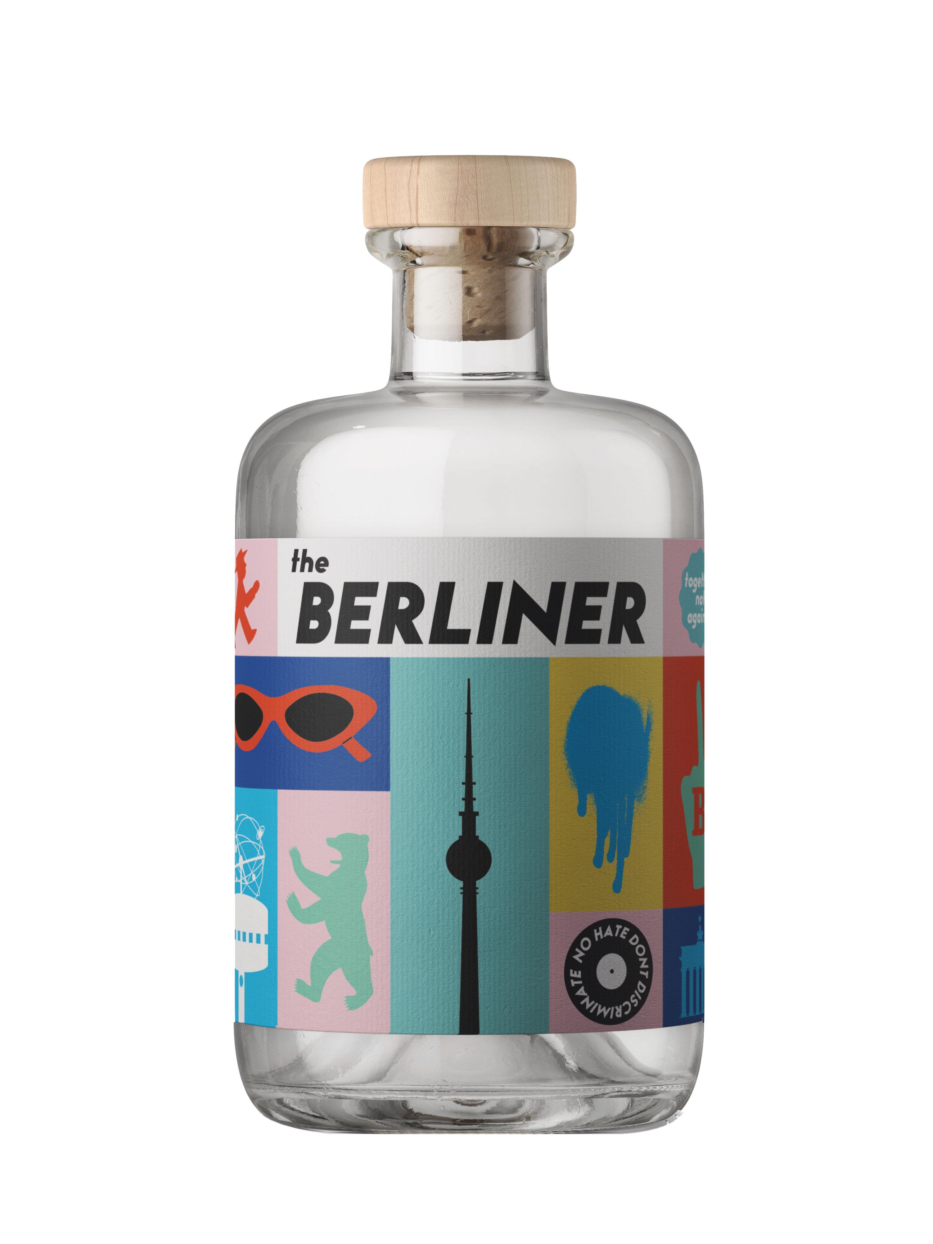 The Berliner Premium Dry Gin 0,5l (41% Vol.) - Premium Dry Gin Berlin - genieße (D)eine Stadt- [Enthält Sulfite]