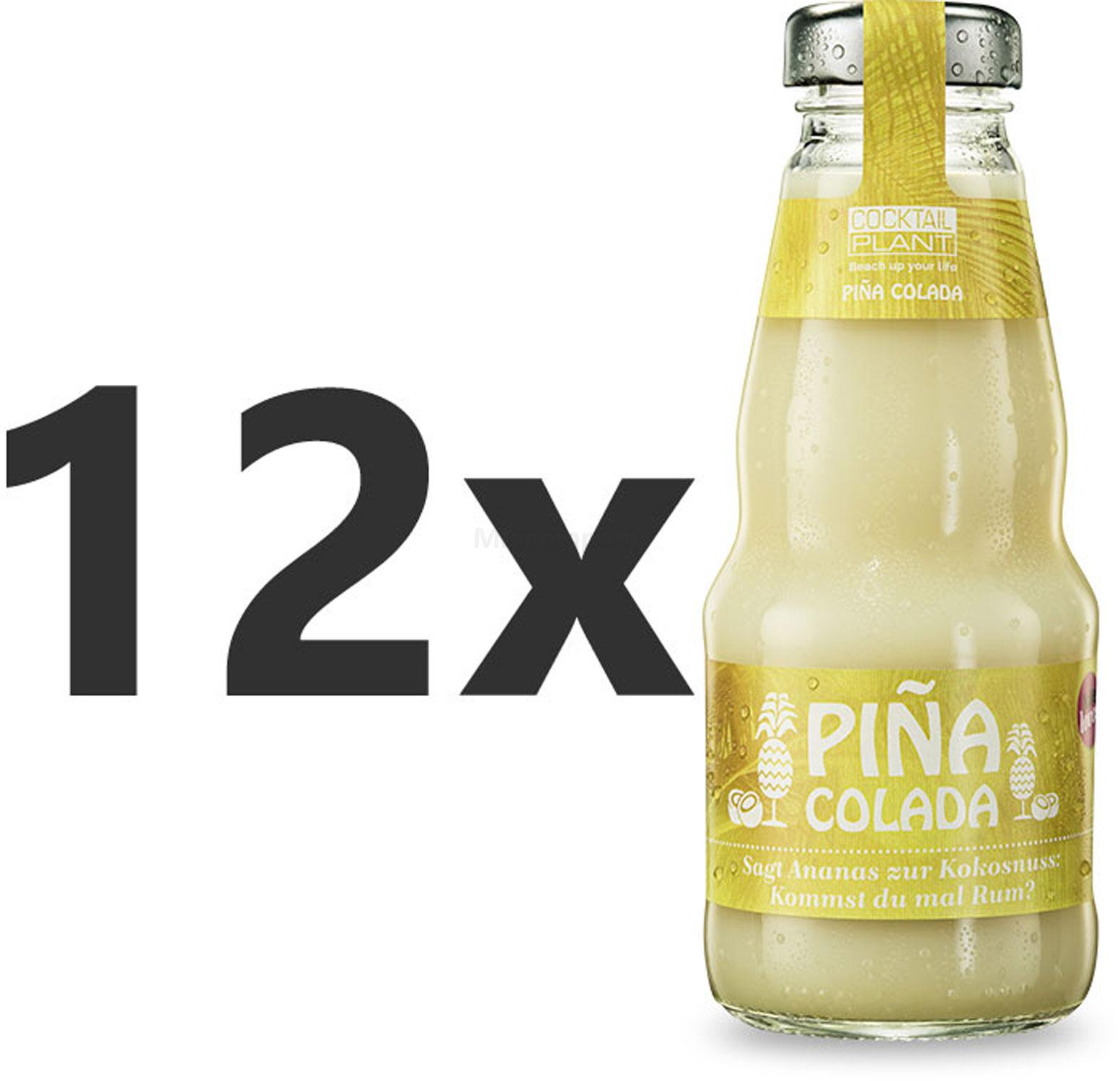 Cocktail Plant Pina Colada (10,1% Vol) 12x 0,2l = 2,4l - inkl. Pfand MEHRWEG - [Enthält Sulfite]