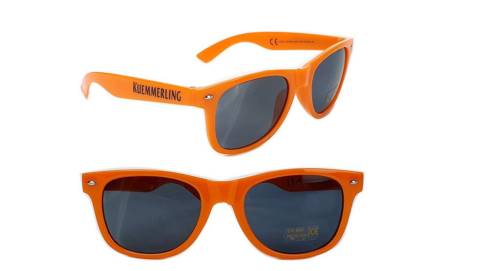 Kümmerling Sonnenbrille - Sonnenbrille / Nerd Brille / Partybrille mit UV SCHUTZ - Orange