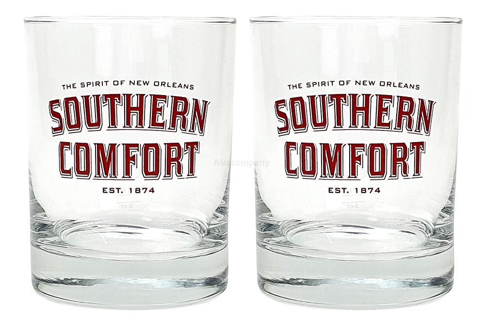 Southern Comfort Tumbler - 2x Glas Gläser / 2er Set - Glas / Tumbler - 2cl + 4cl Eichstrich / Eichung