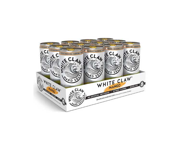 White Claw Mango 12er Set je 330ml (4,5% Vol) ready to drink / Longdrink sparkling hard seltzer - [Enthält Sulfite]
