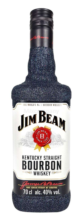 Jim Beam Bourbon Whiskey 0,7l 700ml (40% Vol) Bling Bling Glitzerflasche in schwarz -[Enthält Sulfite]