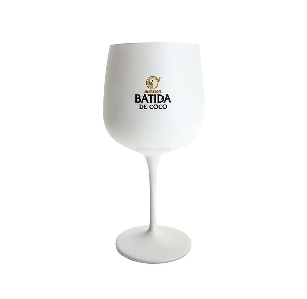 Batida de Coco Glas Mangaroca - weiß - Dekoglas - Weinglas - Satinglas - 1 Stück
