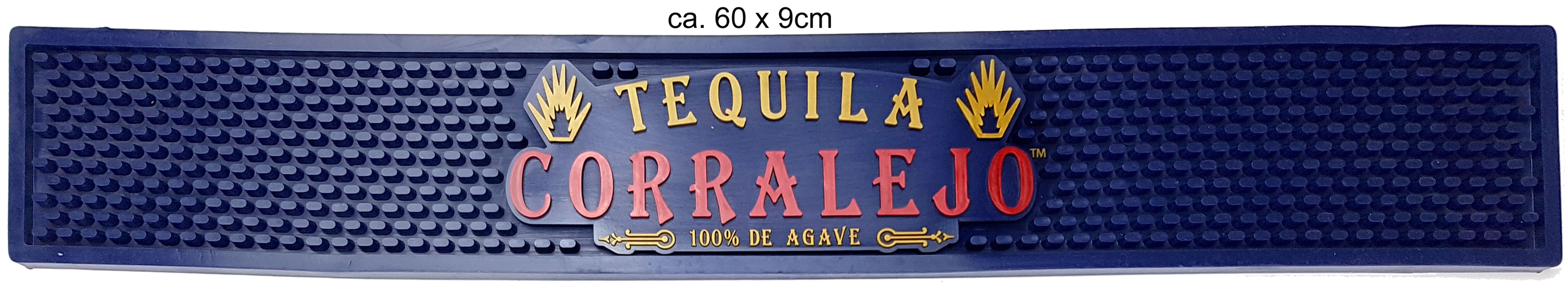 Corralejo Tequila Barmatte Gummimatte Bar - ca. 9 x 60cm