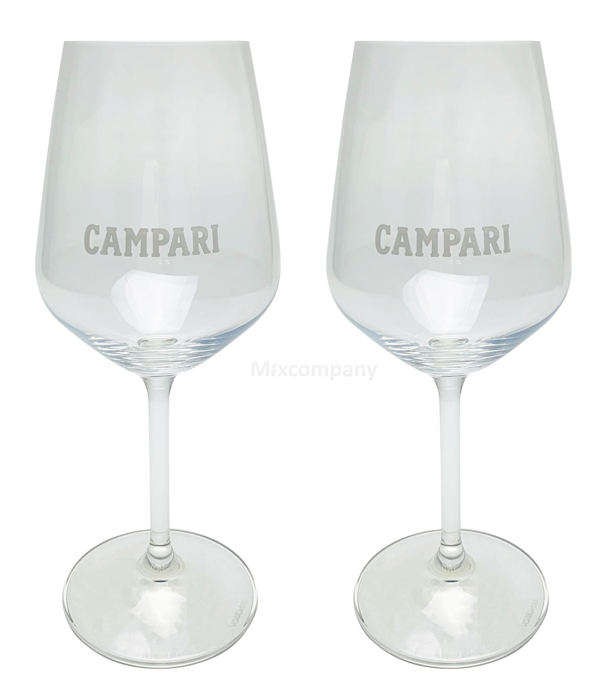 Campari Glas Gläser Set - 2x Weingläser