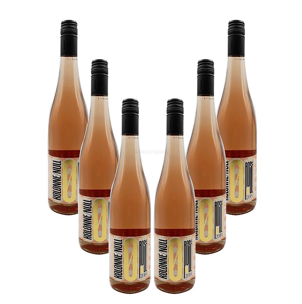 Kolonne Null - 0% Alkohol - 6x Rose - 6er Set Alkoholfreier Rose 0,75L- [Enthält Sulfite]