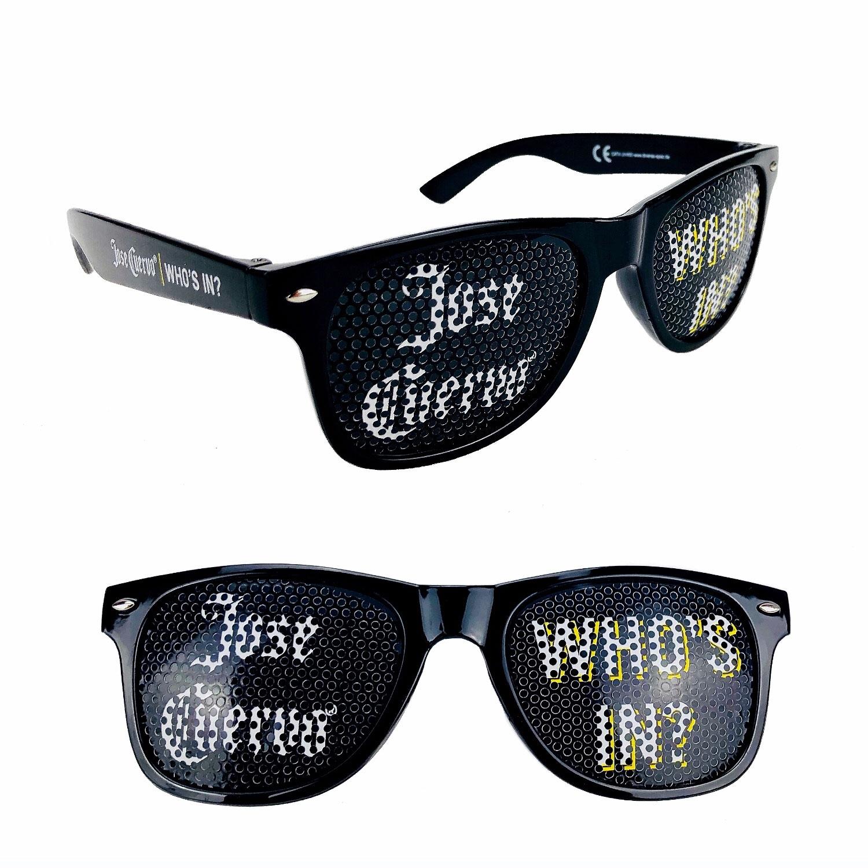 Jose Cuervo who s In Sonnenbrille Partybrille Nerd Brille mit 400 UV Schutz