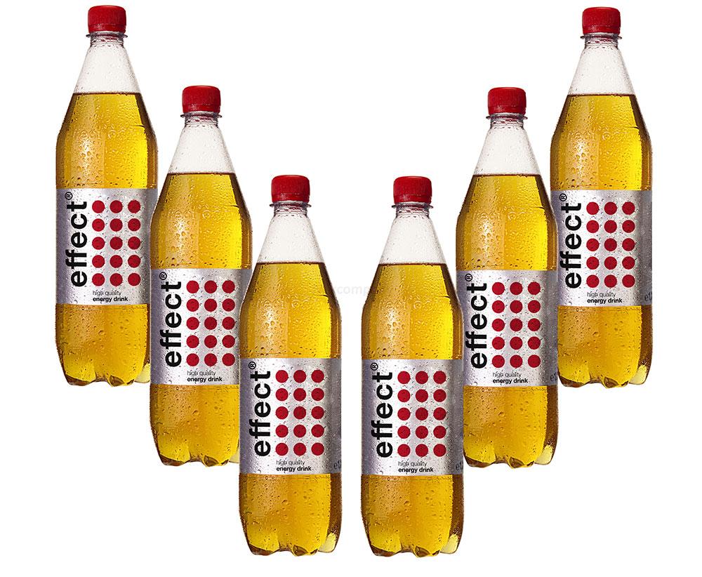 Effect 6er Set Energy Drink 1L 1000ml in PET Flasche inklusive Pfand EINWEG