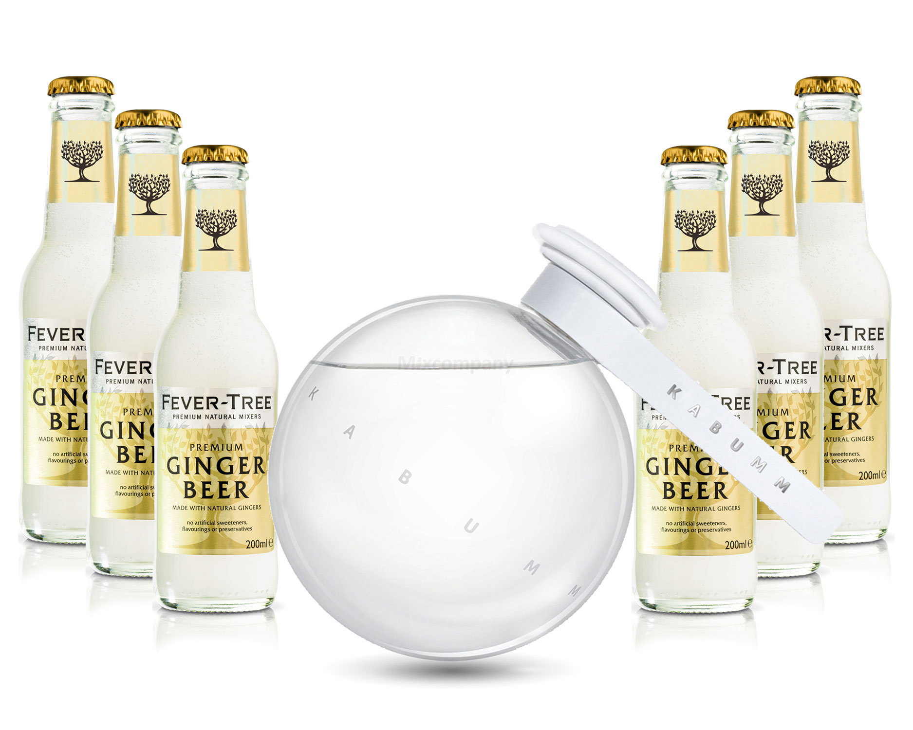 Moscow Mule Set - Kabumm Vodka 0,7l 700ml (40% Vol) + 6x Fever Tree Ginger Beer 200ml - Inkl. Pfand MEHRWEG
