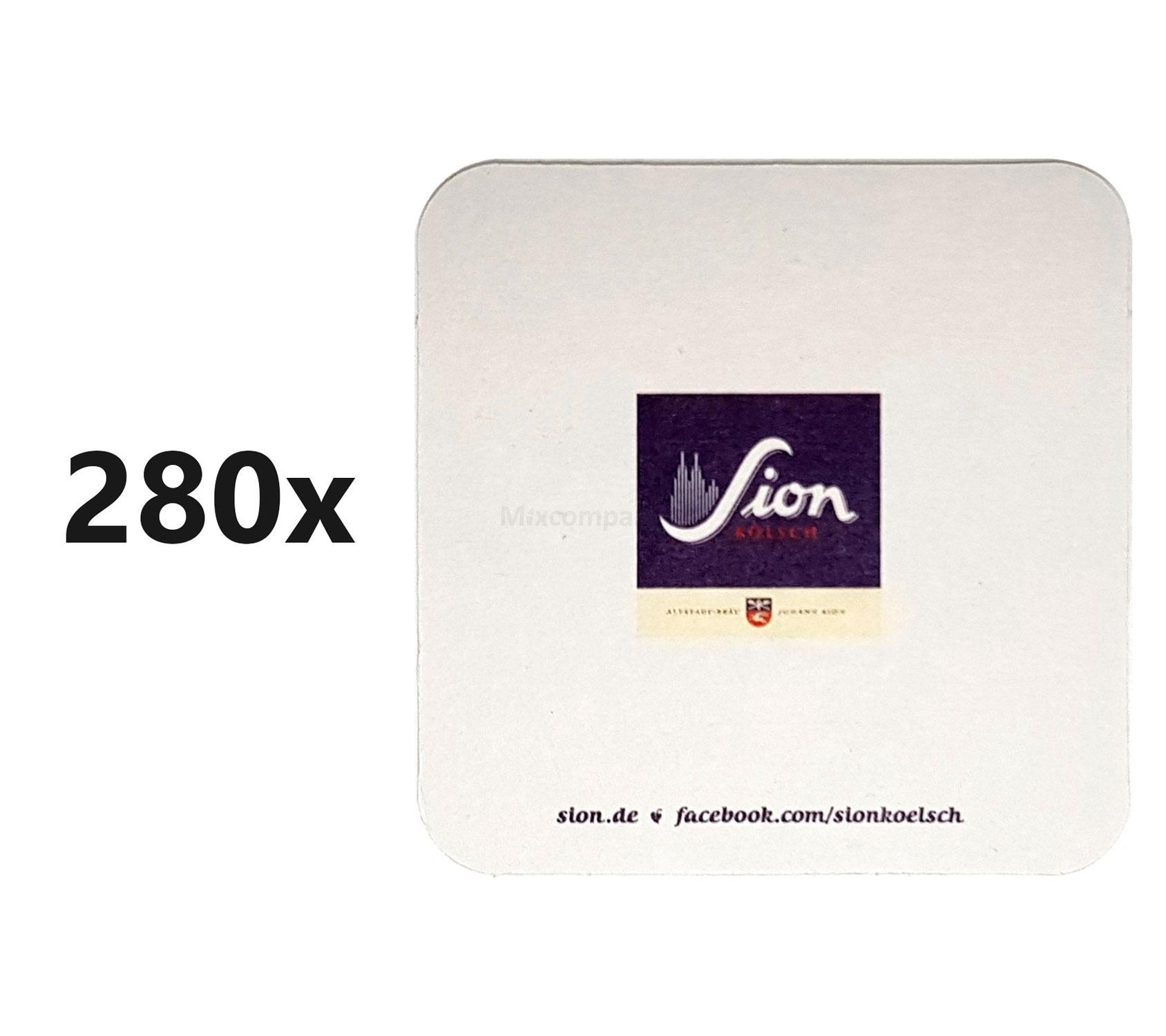 Sion Kölsch Bierdeckel / Untersetzer - 280 Stück