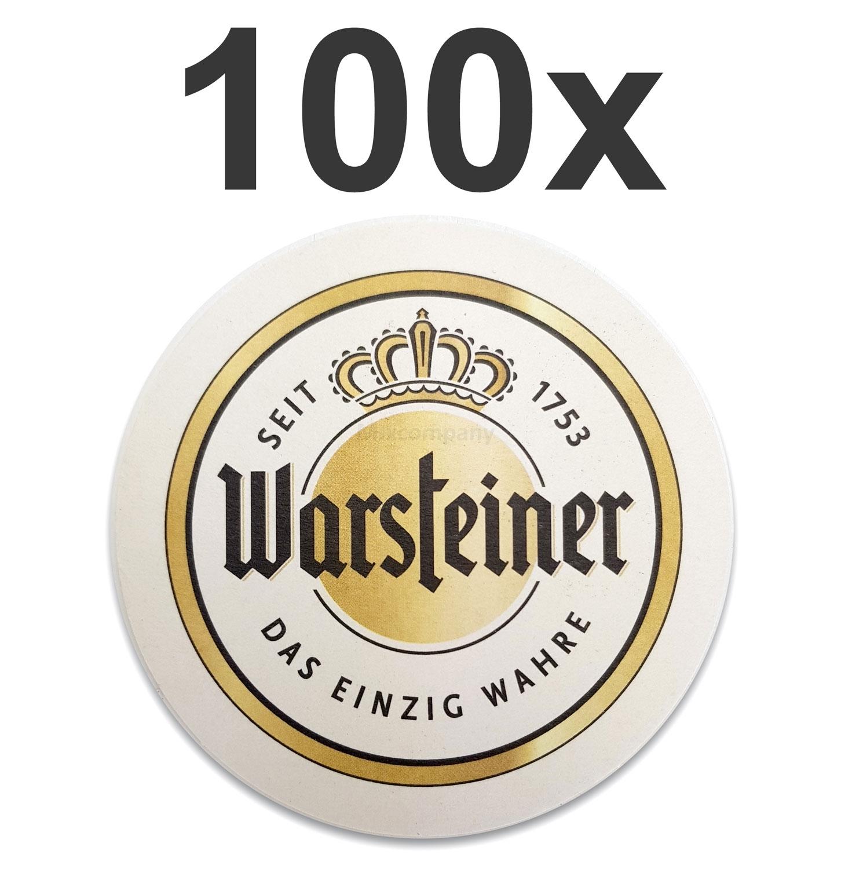 Warsteiner Bierdeckel Untersetzer Bierfilz - 100er Packung