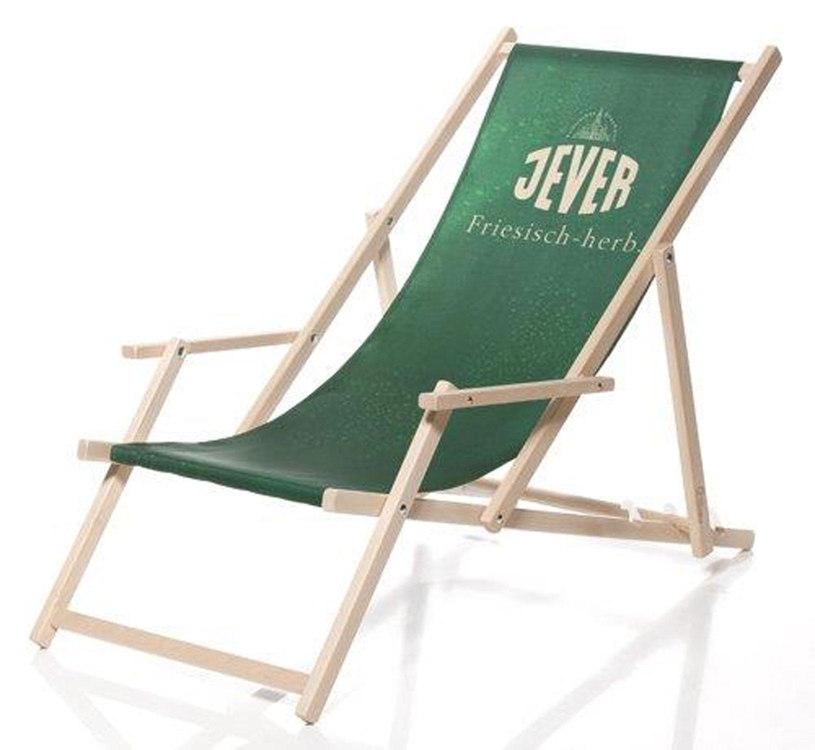 Jever Liegestuhl Stuhl aus Holz Gartenliege Klappstuhl grün