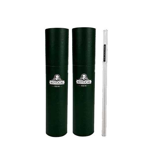 2x Botucal Rum Trinkhalm Halm Glastrinkhalm Glasstrohhalm 20er Set + Bürste wiederverwendbar mit Verpackung