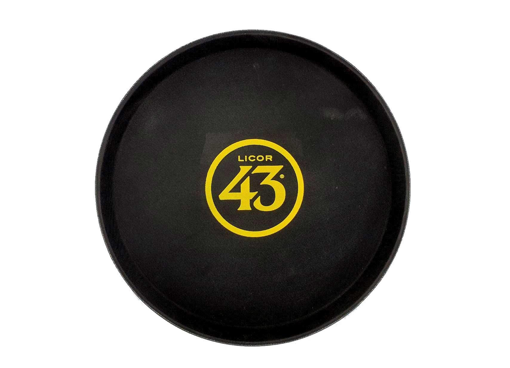 Licor 43 Tabelett - Kellnertablett in schwarz Rutschfest Likör Liquor 43er