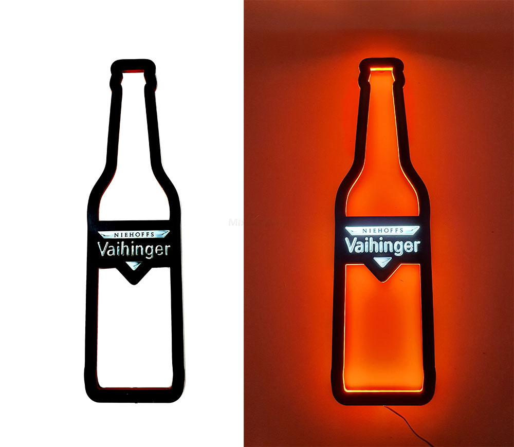 Vaihinger Leuchtschild / Werbeschild / Werbetafel / Leuchtreklame LED Beleuchtet mit Netzteil - Orange