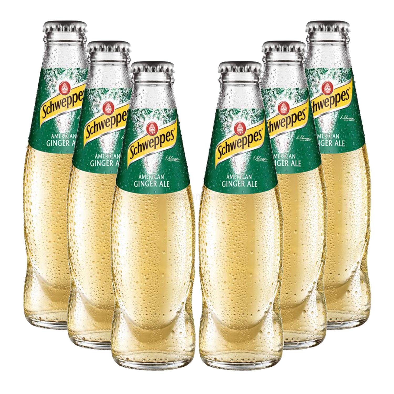 Schweppes American Ginger Ale - 6x200ml = 1200ml - Inkl. Pfand MEHRWEG
