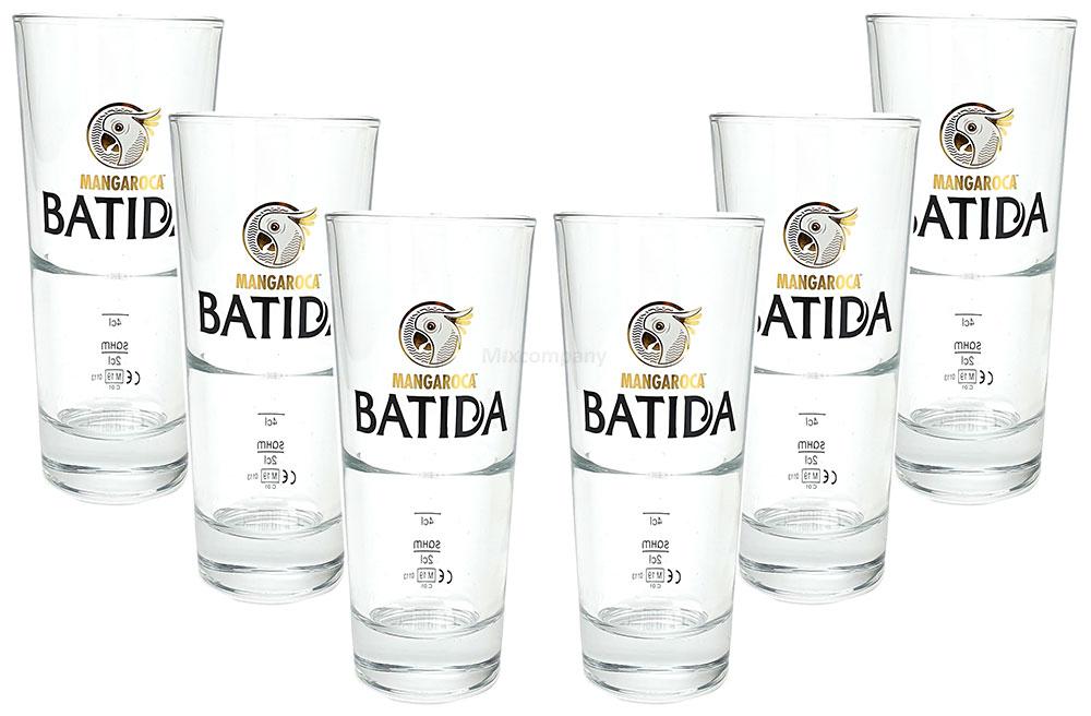 Mangaroca Batida Gläser / Longdrinkglas Longdrink Glas Gläser Set - 6x Longdrinkgläser 2/4cl geeicht / Eichung / Eichstrich