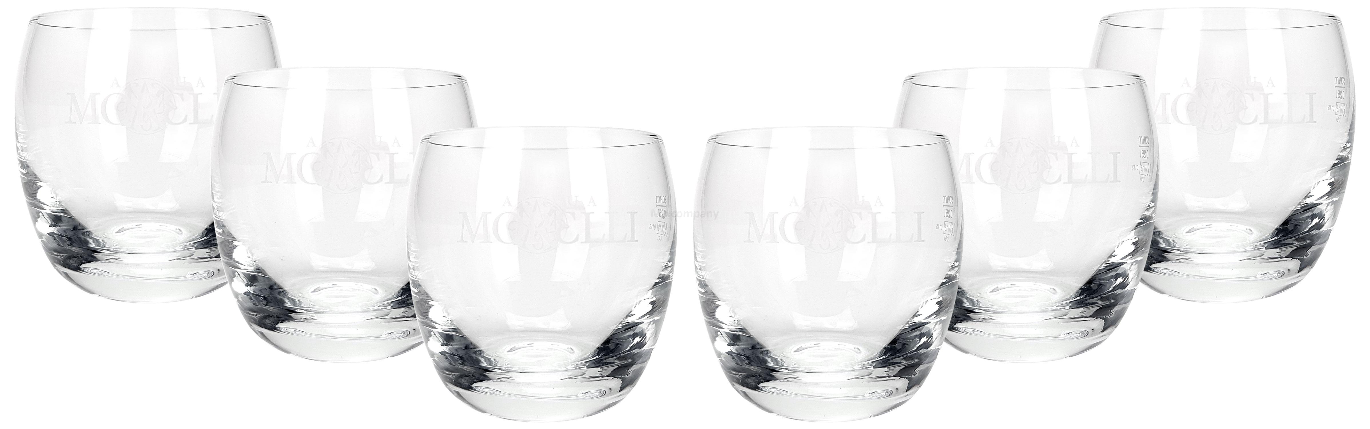 Acqua Morelli Glas Gläser Set - 6x Tumbler 0,25l geeicht