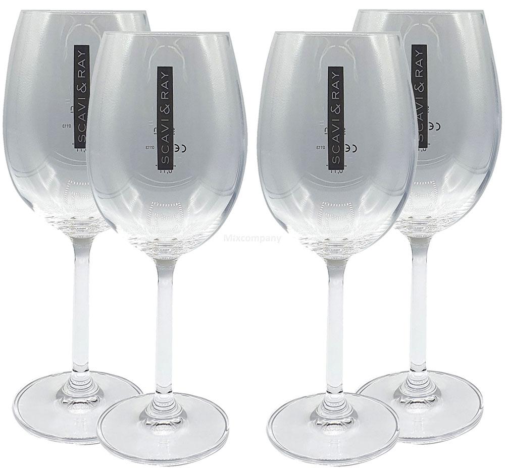 Scavi & Ray Weingläser - 4er Set Glas / Gläser / Wein Gläser Klar