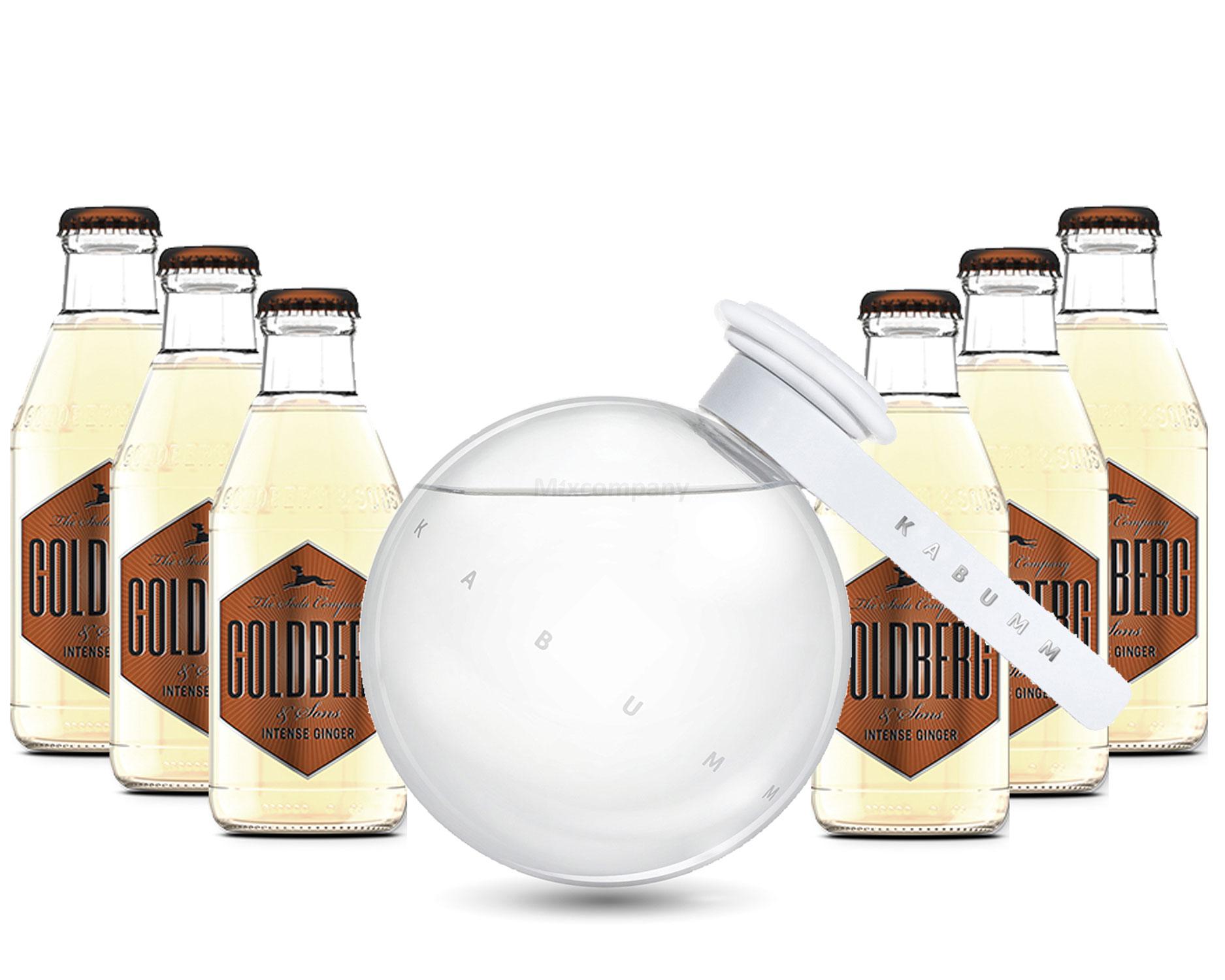Moscow Mule Set - Kabumm Vodka 0,7l 700ml (40% Vol) + 6x Goldberg Intense Ginger 200ml - Inkl. Pfand MEHRWEG