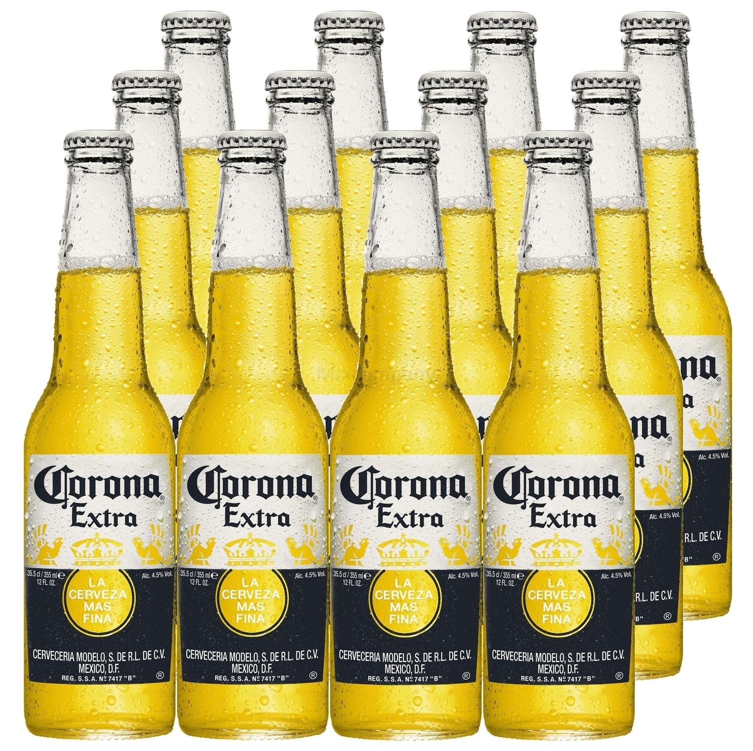 Corona Extra Mexikanisches Bier inkl. Pfand - 12x 355ml (4,5% Vol) -[Enthält Sulfite] - Inkl. Pfand MEHRWEG