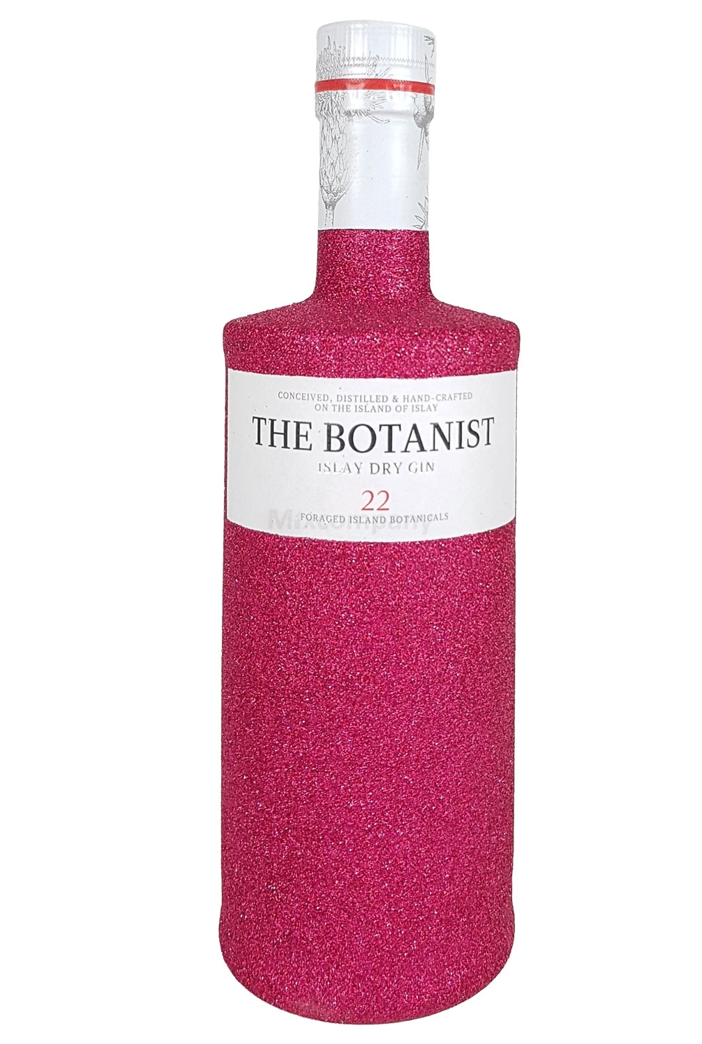 The Botanist Islay Dry Gin 0,7l 700ml (46% Vol) Bling Bling Glitzerflasche in hot pink -[Enthält Sulfite]