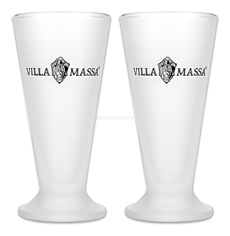 Villa Massa Glas Schnapsglas Shotglas Milchglas Gläser Set - 2 Stück