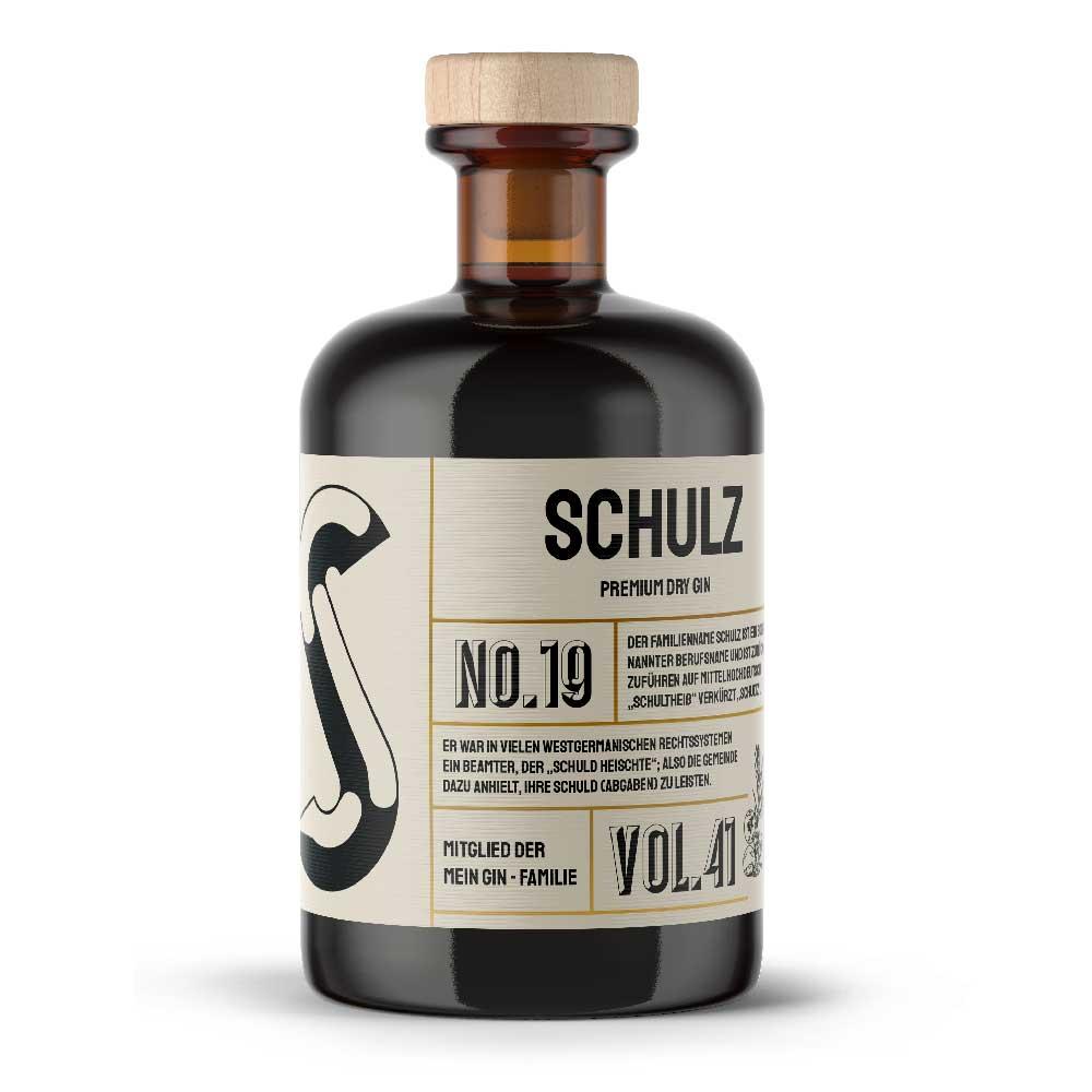 Mein Gin - Schulz Premium Dry Gin No19 - Der Schulz Gin 0,5L (41% Vol)