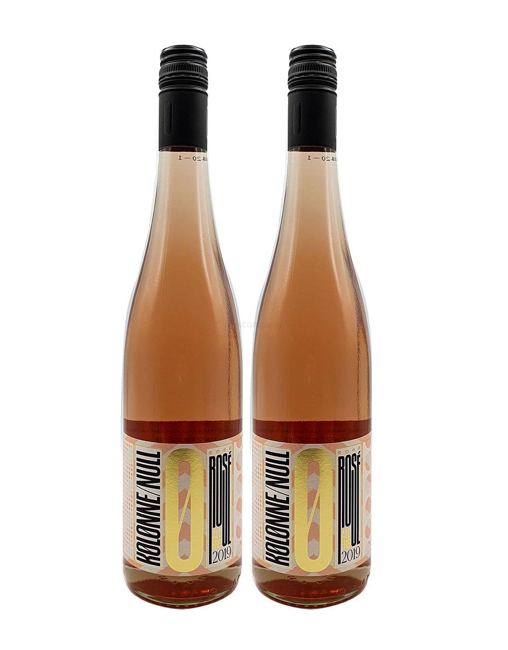 Kolonne Null - 0% Alkohol - 2x Rose - 2er Set Alkoholfreier Rose 0,75L- [Enthält Sulfite]