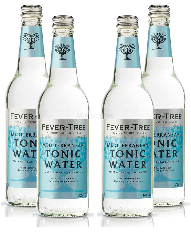 Fever-Tree Mediterranean Tonic Water 4x 500ml = 2000ml - Inkl. Pfand MEHRWEG