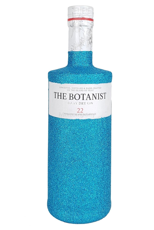 The Botanist Islay Dry Gin 0,7l 700ml (46% Vol) Bling Bling Glitzerflasche in blau -[Enthält Sulfite]