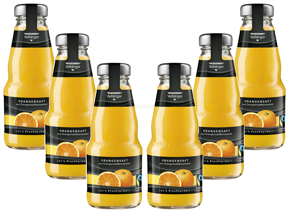 Niehoffs Vaihinger Orangensaft 0,2L TWO - 6er Set inkl. Pfand MEHRWEG