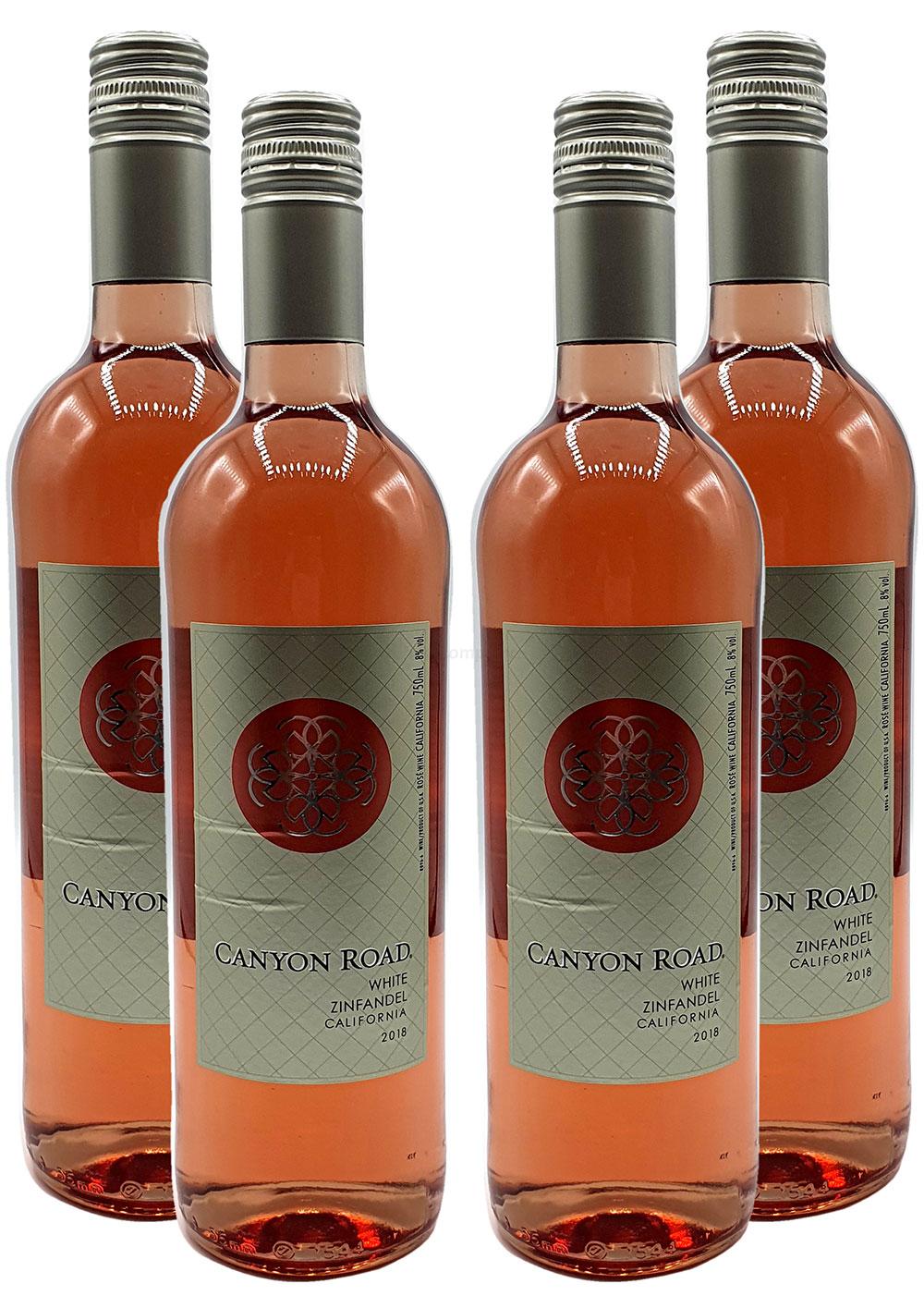 Rose Wein Set - 4x Canyon Road Zinfandel 750ml (8% Vol)- [Enthält Sulfite]