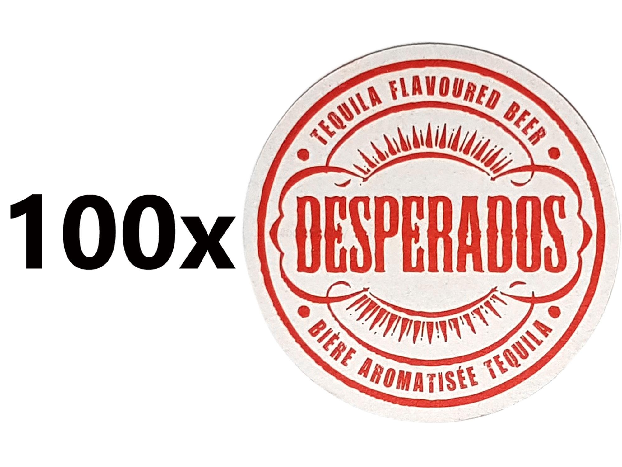 Desperados Bierdeckel Untersetzer Unterlage Pappdeckel Bierfilz - 100er Packung