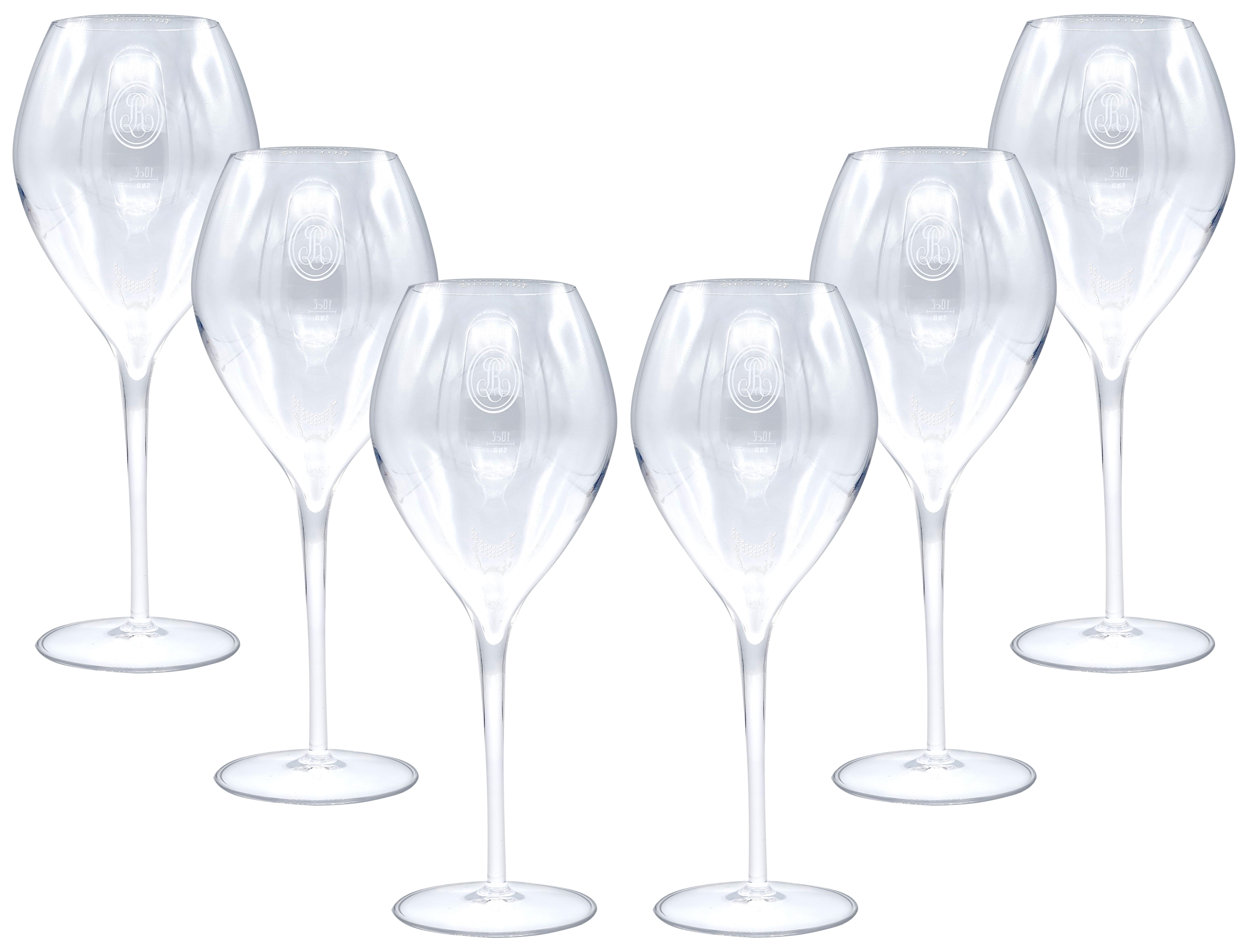 Louis Roederer Champagner Sekt Glas Gläser-Set - 6x Gläser 10cl geeicht