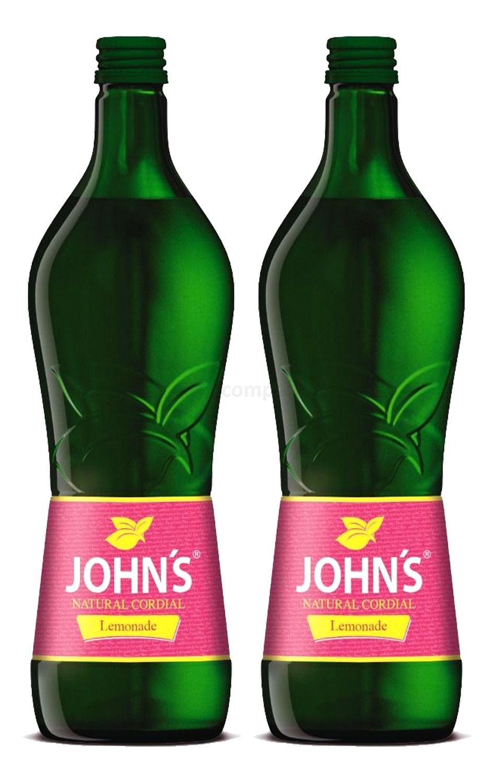 Johns Lemonade Sirup für Cocktails 2x 0,7l = 1,4 Liter