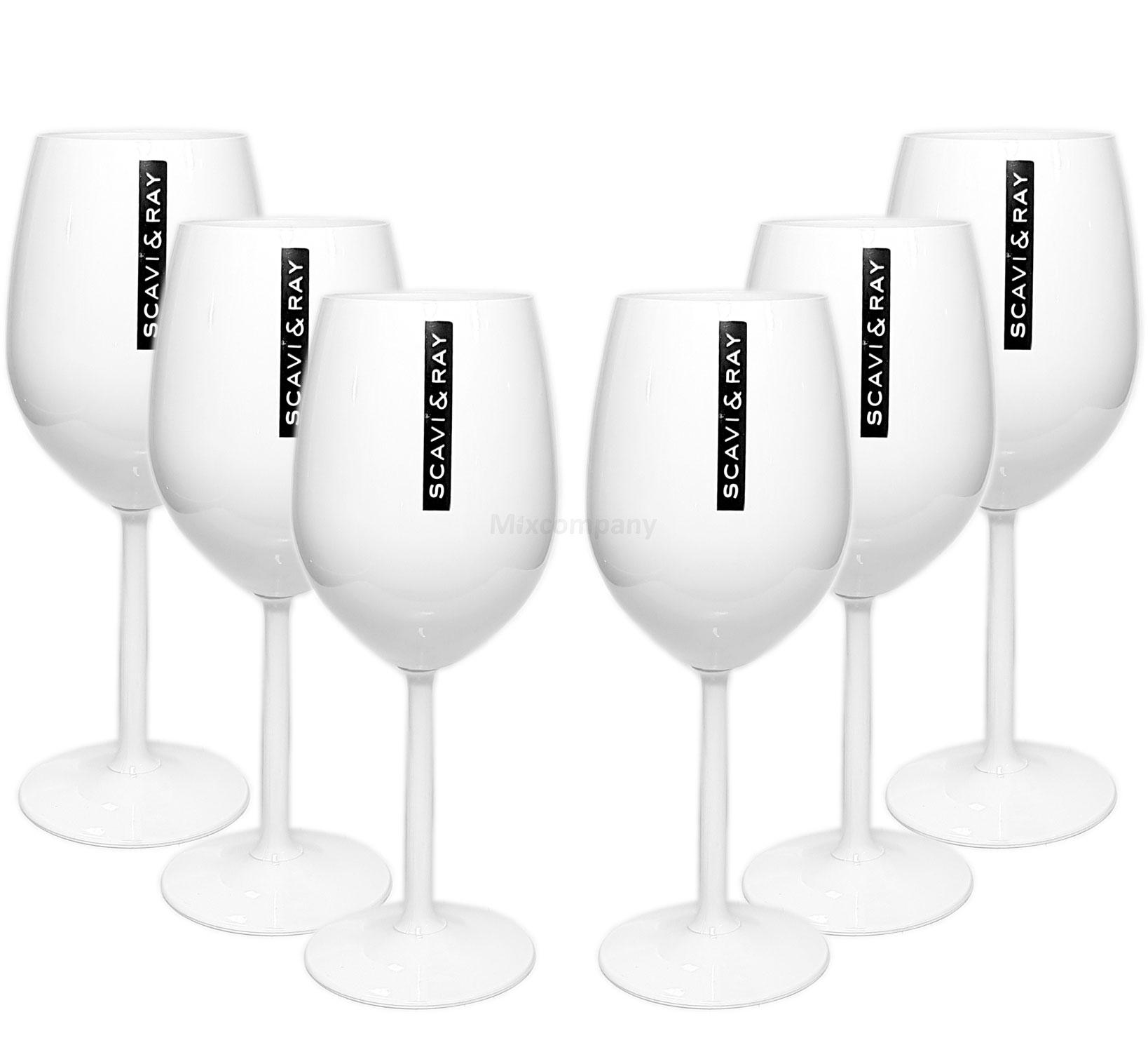 Scavi & Ray ICE Glas Gläser-Set - 6x Champagner / Wein ICE Gläser weiss