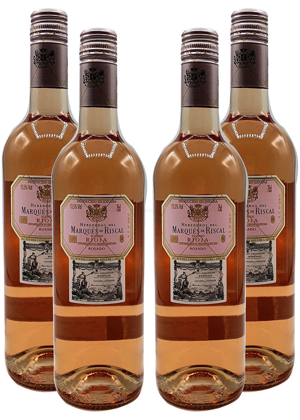 Rose Wein Set - 4x Marques de Riscal Rioja Rosado 750ml (13,5% Vol)- [Enthält Sulfite]