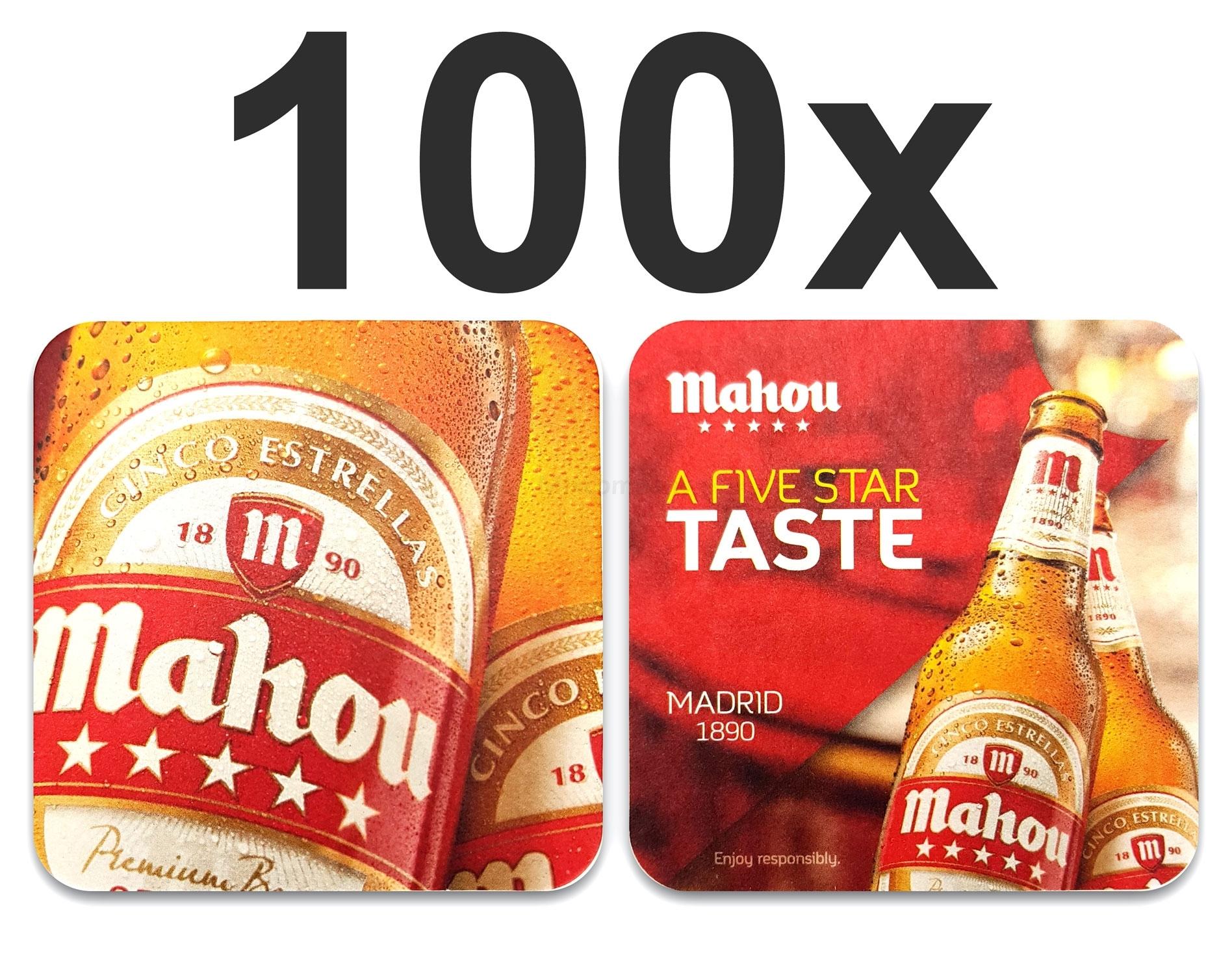 Mahou Bierdeckel Untersetzer Bierfilz - 100er Packung