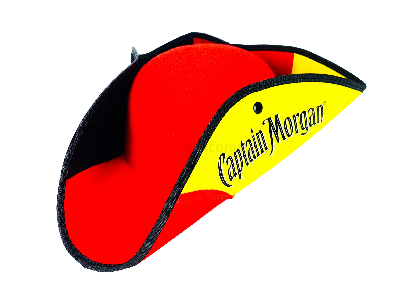 Captain Morgan Rum Piratenhut in deutschen Farben Hut Hüte Mütze Fasching Karneval WM Mannschaft