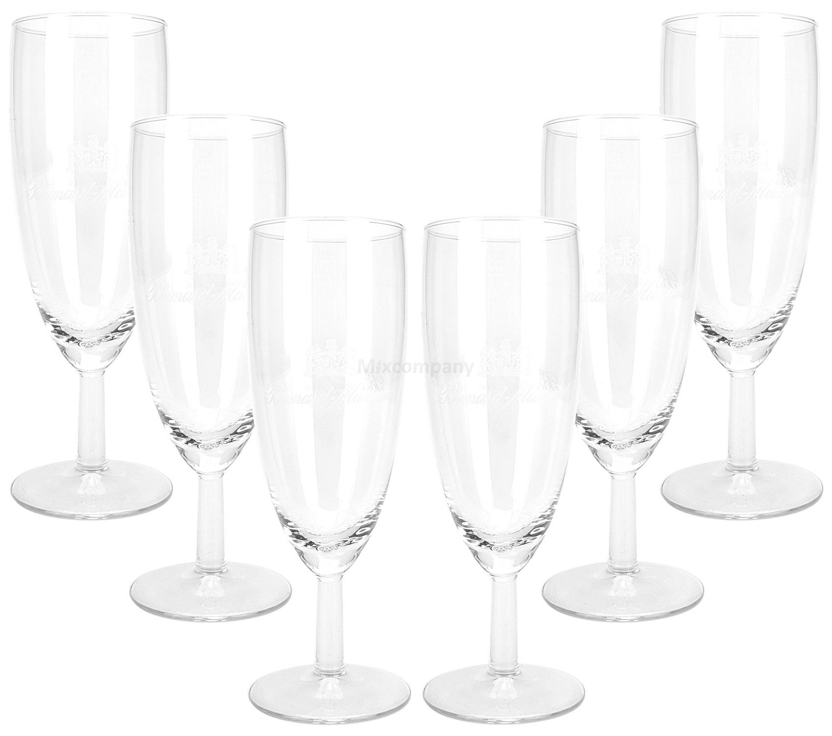 Bernard Massard Champagner Prosecco Glas Gläser Set - 6x Sektgläser 0,1l geeicht