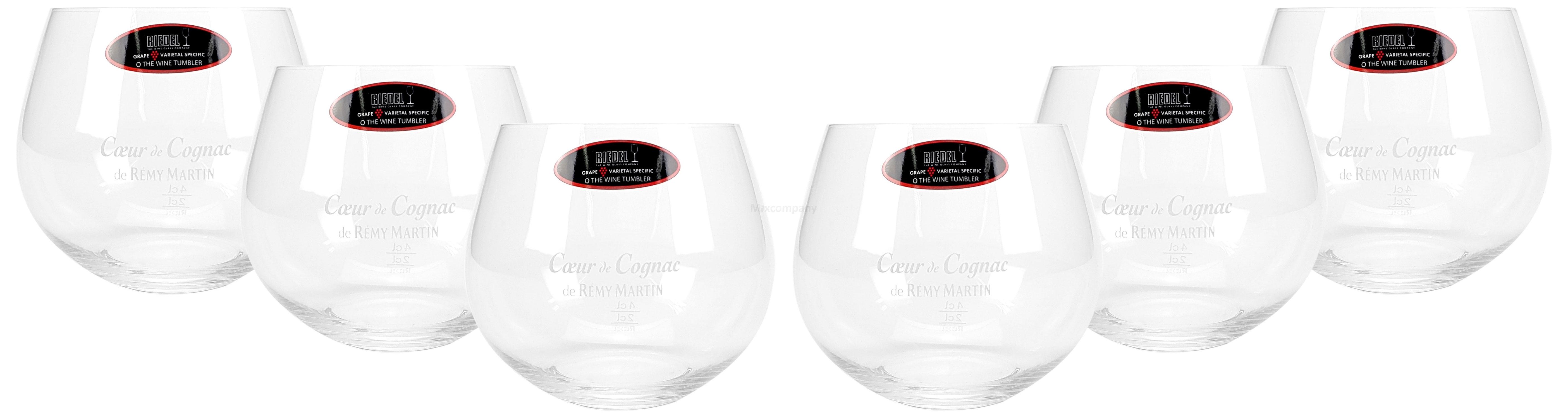 Remy Martin Caeur de Cognac Glas Gläser Set - 6x Wein Tumbler 2/4cl geeicht
