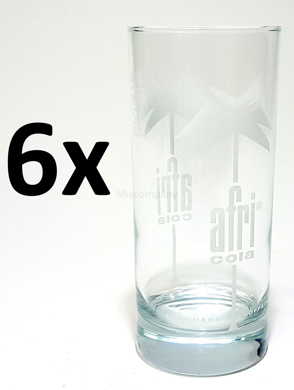 Afri-Cola Gläser-Set Longdrink - 6x Gläser 0,4L