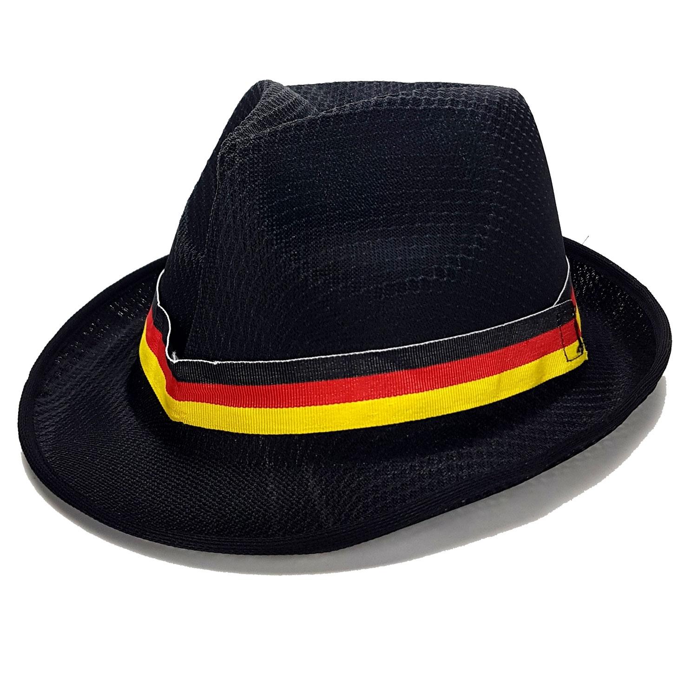 Deutschland WM Fan Hut Fedora Panama WM 2018 - schwarz rot gold