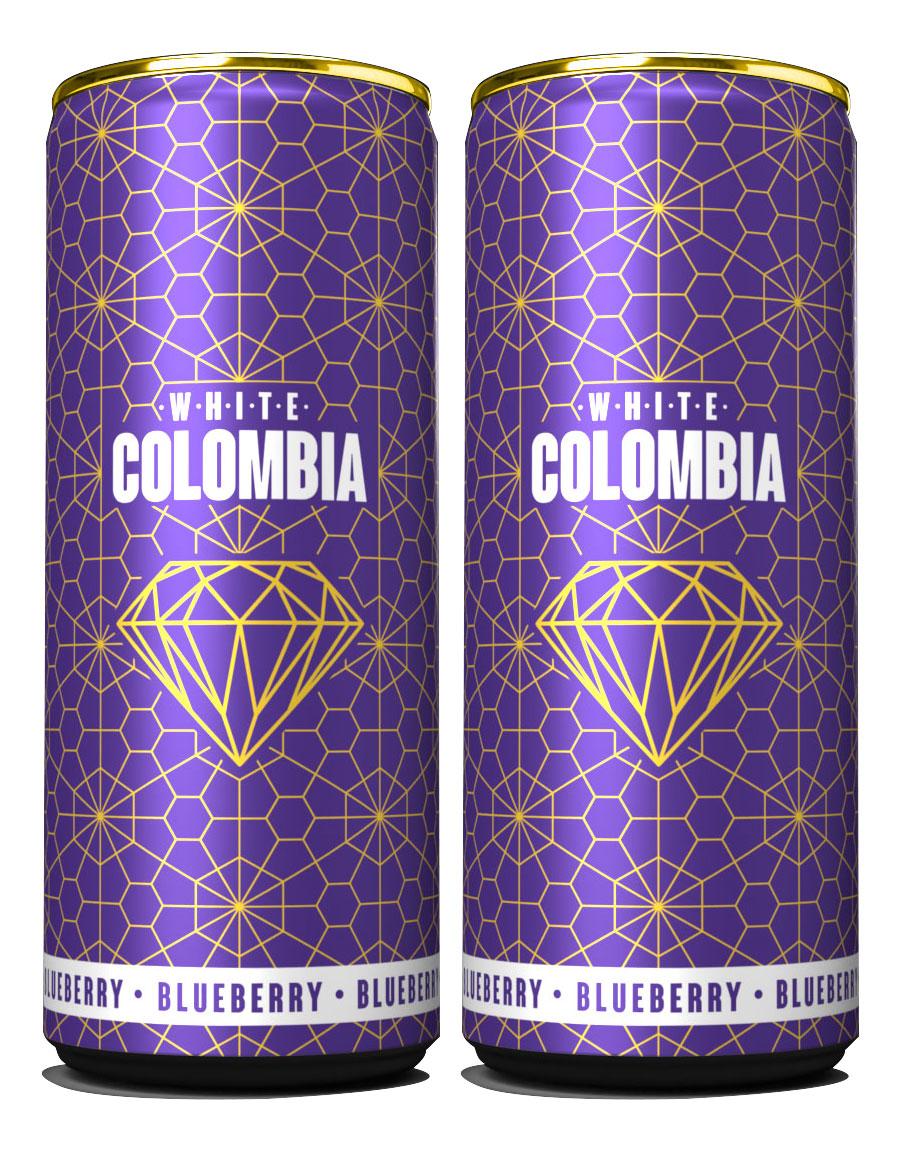 White Colombia Blueberry Set - Erfrischungsgetränk mit Brombeer-Heidelbeergeschmack - 2x 250ml inkl. Pfand EINWEG